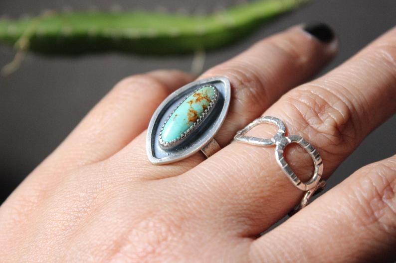 kingman turquoise shadowbox ring
