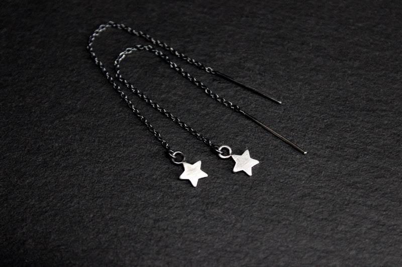 star ear threads/threader earrings