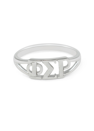 Phi Sigma Rho Sterling Silver Ring