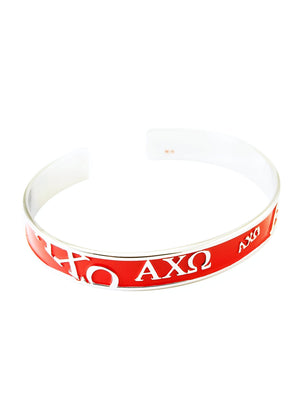 Accessories - Alpha Chi Omega Bangle Cuff Bracelet (Red)