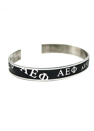Accessories - Alpha Epsilon Phi Bangle (Black)