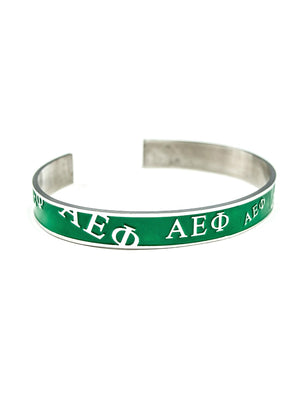 Accessories - Alpha Epsilon Phi Bangle (Green)