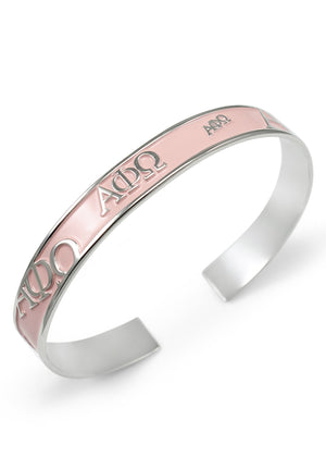 Accessories - Alpha Phi Omega Bangle Cuff Bracelet (Multi Colors Available)