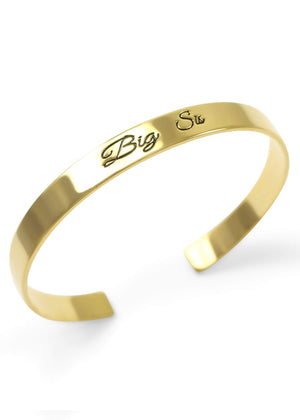 Accessories - Big Sis Bangle Cuff Bracelet (gold)