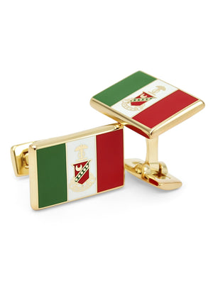 Accessories - Kappa Sigma Gold Plated Flag Cufflinks