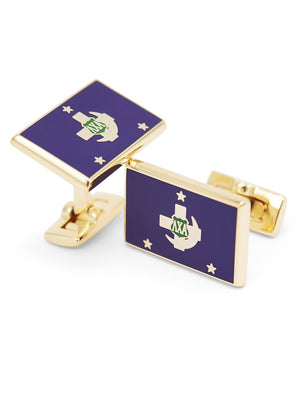 Accessories - Lambda Chi Alpha Gold Plated Flag Cufflinks
