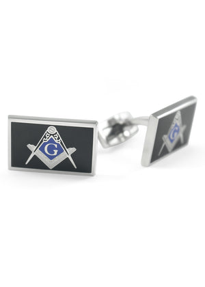 Accessories - Masonic Cuff Links With Square And Compass