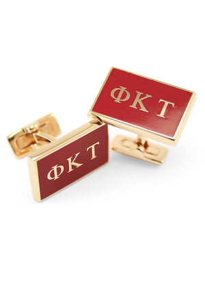 Accessories - Phi Kappa Tau Gold Plated Flag Cufflinks