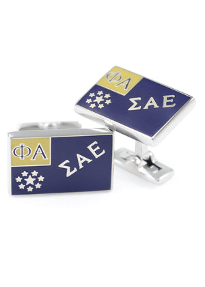 Accessories - Sigma Alpha Epsilon Flag Cufflinks