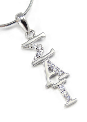 Accessories - Sigma Alpha Iota Vertical Lavaliere With Simulated Diamonds