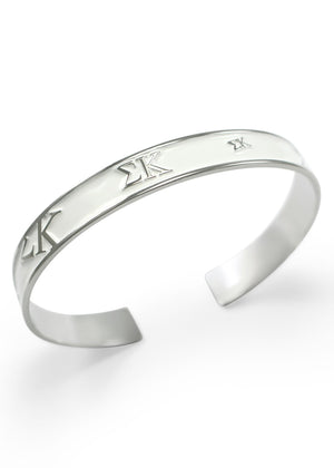 Accessories - Sigma Kappa Bangle (White)