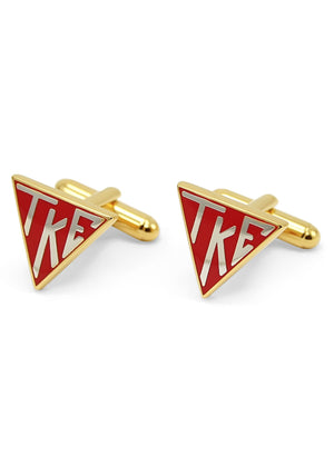 Accessories - Tau Kappa Epsilon Triangle Cufflinks (Gold-Plated)