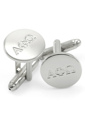 Cuff Links - Alpha Phi Omega Fraternity Circular Cuff Links