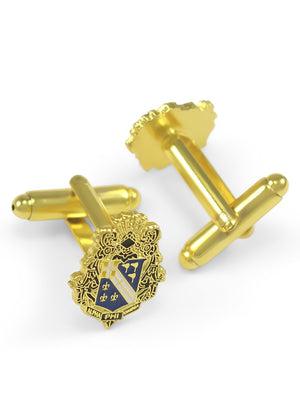 Cuff Links - Alpha Phi Omega Fraternity Crest Cuff Links