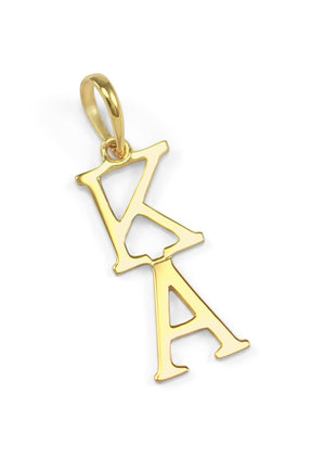 Necklace - 14k Solid Gold Kappa Alpha Lavaliere
