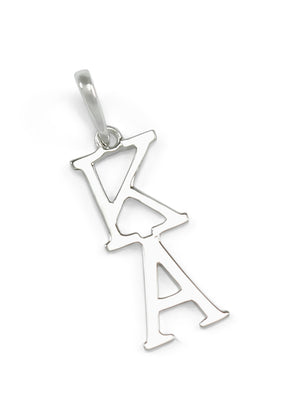 Necklace - 14k White Gold Kappa Alpha Lavaliere