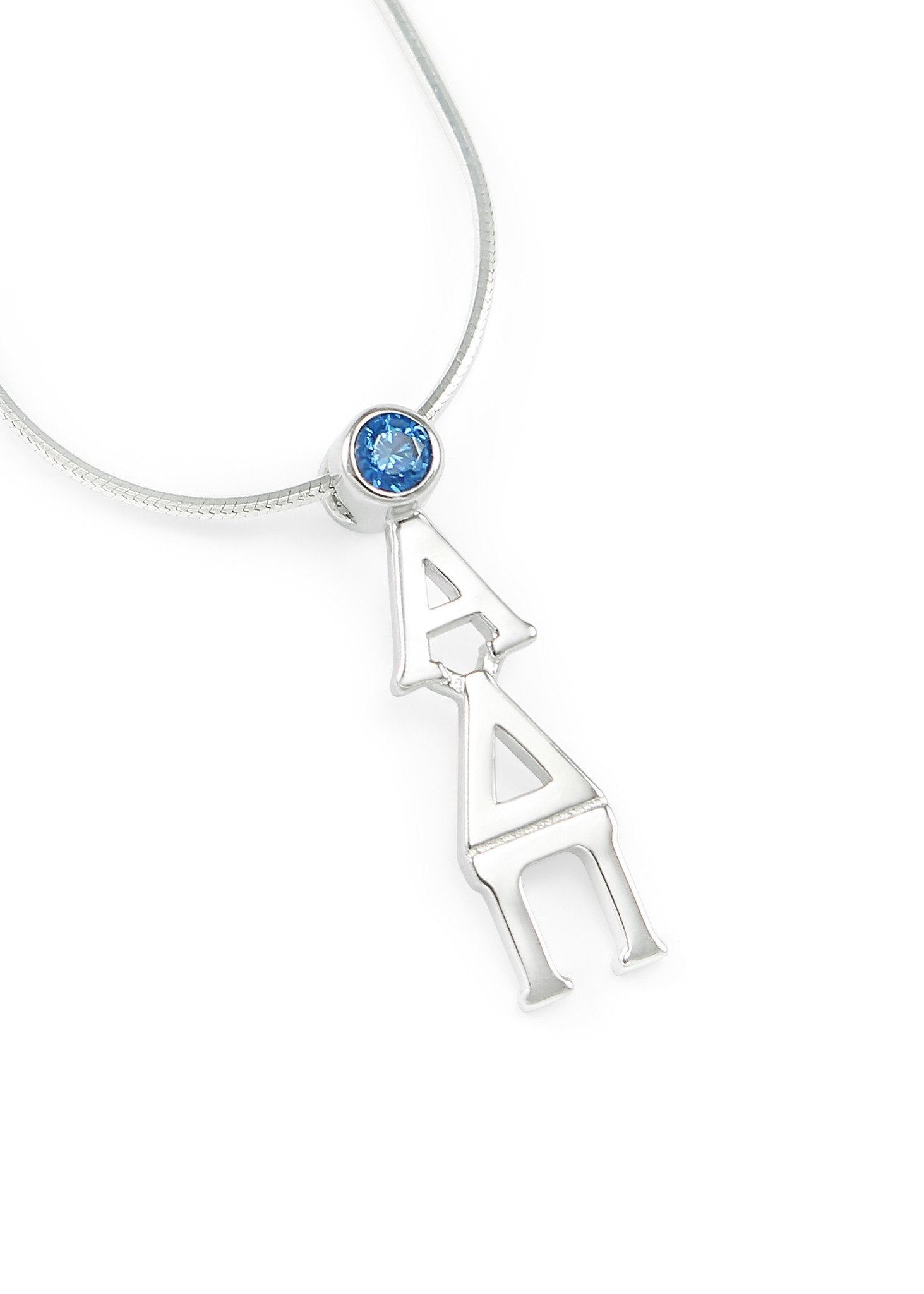 925 Sterling Silver Rhodium-plated Kappa Alpha Theta Sorority Small Enameled Pendant Necklace w//18 Chain