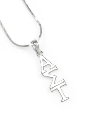 Necklace - Alpha Sigma Tau Classic Sterling Silver Lavaliere Pendant