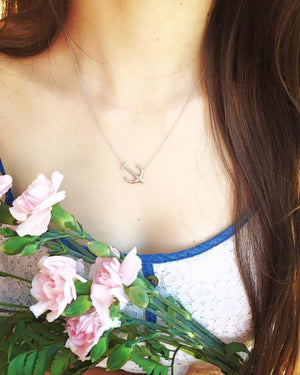 Necklace - Anchor Sideways Pendant