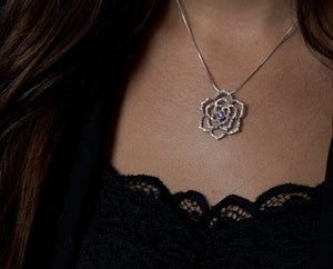 Necklace - Delta Sigma Pi- Rose Of Deltasig Necklace