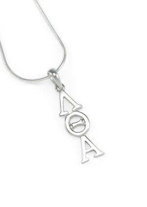 Necklace - Lambda Theta Alpha Sterling Silver Lavaliere