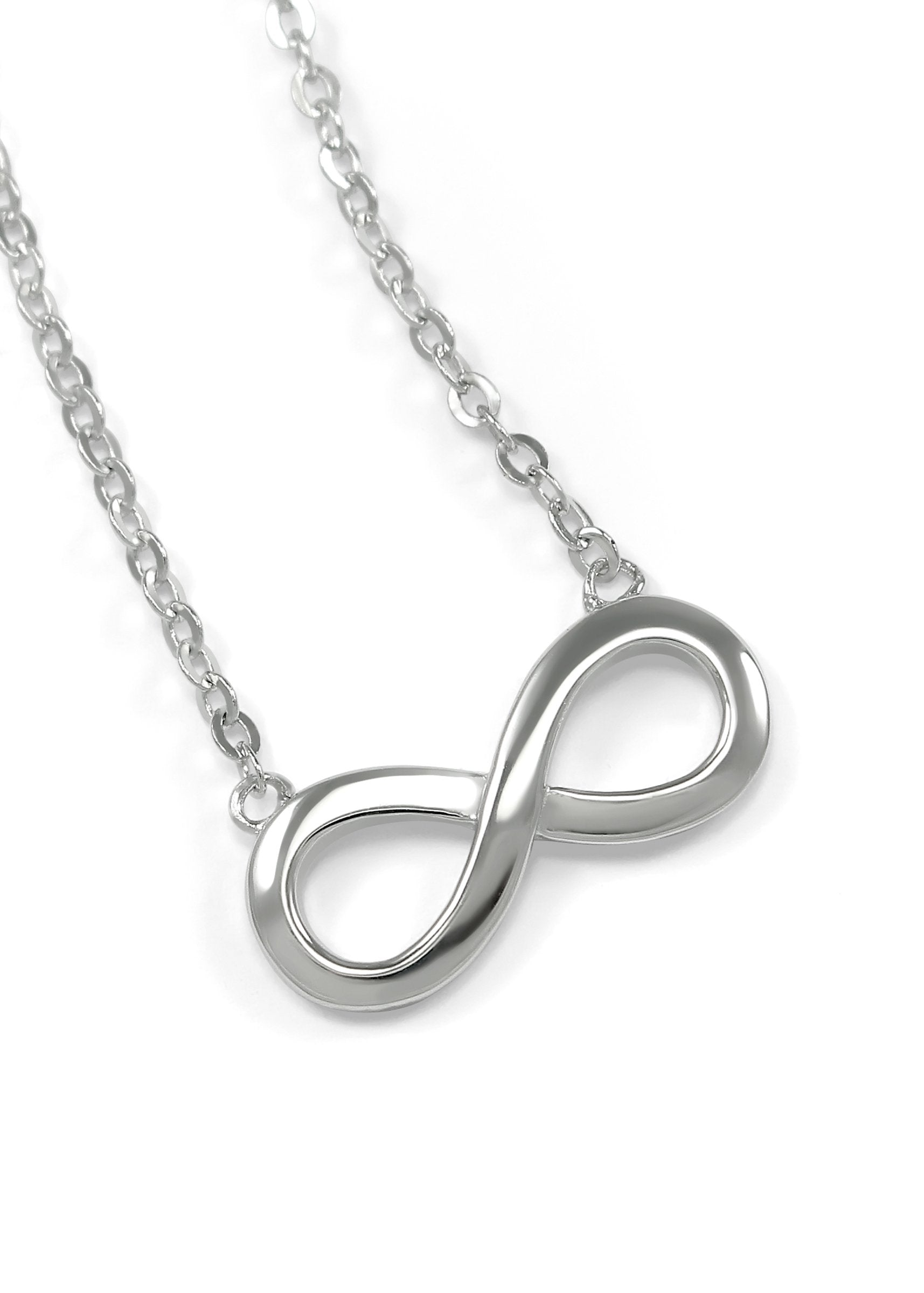 silver sterling infinity products necklace pendant