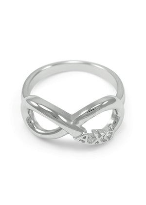 Ring - Alpha Chi Omega Sterling Silver Infinity Ring