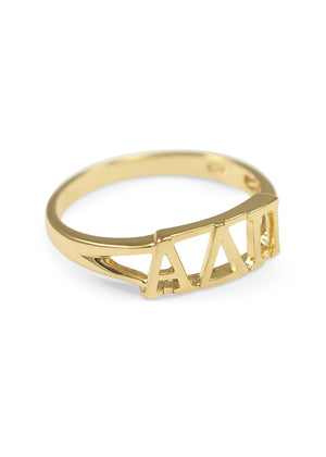 Ring - Alpha Delta Pi Sunshine Gold Ring