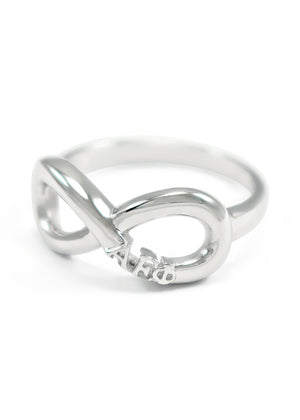 Ring - Alpha Epsilon Phi Sterling Silver Infinity RIng