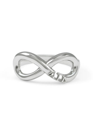 Ring - Alpha Gamma Delta Sterling Silver Infinity Ring
