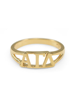 Ring - Alpha Gamma Delta Sunshine Gold Ring
