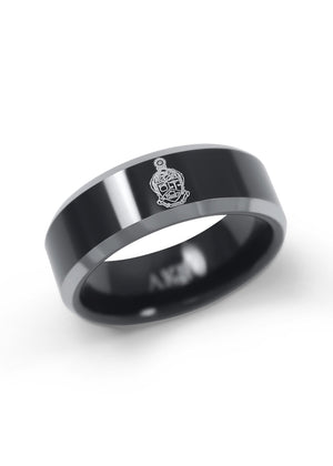 Ring - Alpha Kappa Psi Black Tungsten Ring