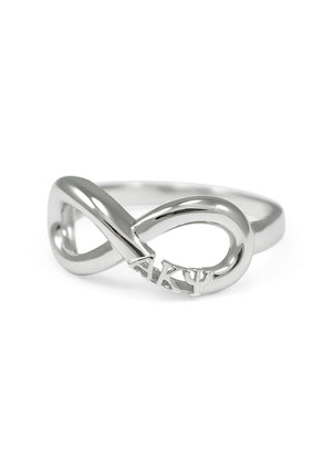 Ring - Alpha Kappa Psi Sterling Silver Infinity Ring
