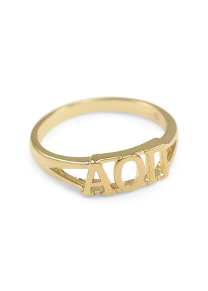 Ring - Alpha Omicron Pi Sunshine Gold Ring