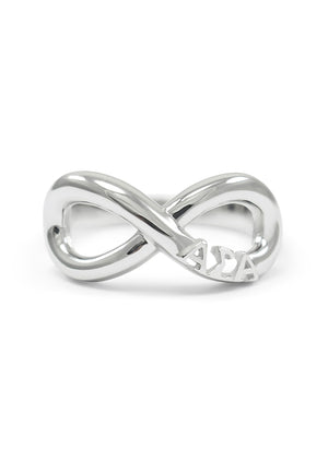 Ring - Alpha Sigma Alpha Sterling Silver Infinity Ring