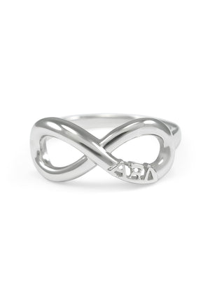 Ring - Alpha Xi Delta Sterling Silver Infinity Ring