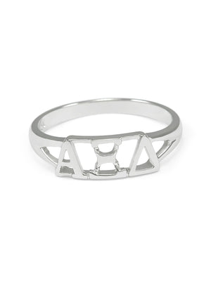 Ring - Alpha Xi Delta Sterling Silver Ring