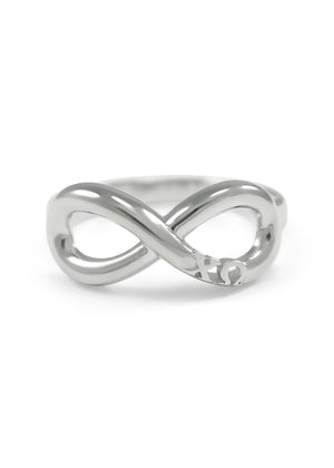 Ring - Chi Omega Sterling Silver Infinity Ring