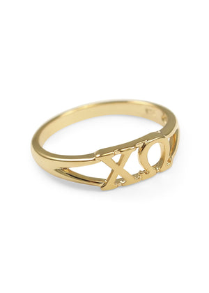 Ring - Chi Omega Sunshine 14k Gold Plated Ring