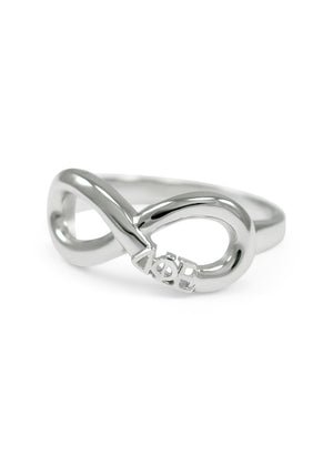 Ring - Delta Phi Epsilon Sterling Silver Infinity Ring