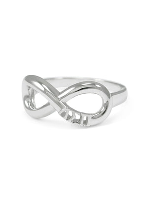 Ring - Delta Sigma Pi Sterling Silver Infinity Ring