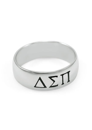 Ring - Delta Sigma Pi Sterling Silver Wide Band Ring (Men's)