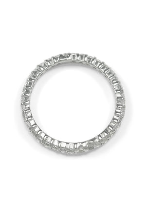 Ring - Eternity Band Ring With Simulated Diamonds