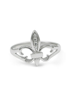 Ring - Fleur De Lis Sterling Silver Ring