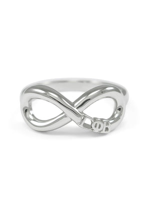 Ring - Gamma Phi Beta Sterling Silver Infinity Ring