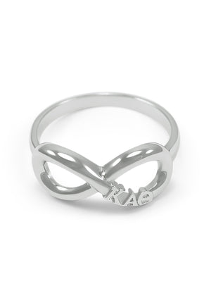 Ring - Kappa Alpha Theta Sterling Silver Infinity Ring