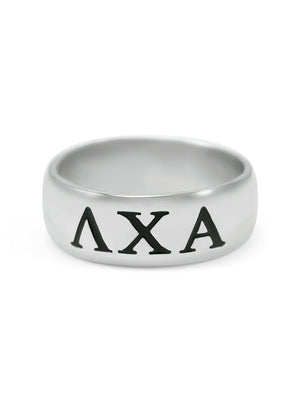 Ring - Lambda Chi Alpha Sterling Silver Wide Band Ring