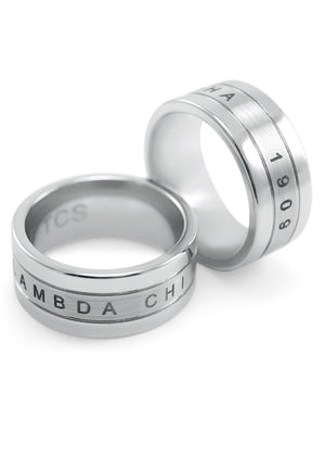 Ring - Lambda Chi Alpha Tungsten Ring