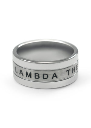 Ring - Lambda Theta Phi Tungsten Ring