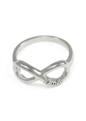 Ring - Omega Phi Alpha Sterling Silver Infinity Ring